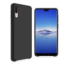 Silikon Hülle Handyhülle Ultra Dünn Schutzhülle Tasche Vorder und Rückseite 360 Grad für Huawei P20 Schwarz