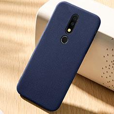 Silikon Hülle Handyhülle Ultra Dünn Schutzhülle Tasche Vorder und Rückseite 360 Grad für Nokia 6.1 Plus Blau