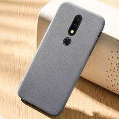 Silikon Hülle Handyhülle Ultra Dünn Schutzhülle Tasche Vorder und Rückseite 360 Grad für Nokia 6.1 Plus Grau