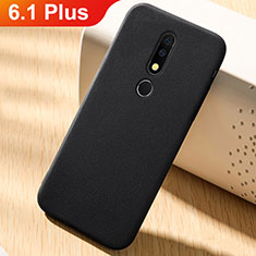 Silikon Hülle Handyhülle Ultra Dünn Schutzhülle Tasche Vorder und Rückseite 360 Grad für Nokia 6.1 Plus Schwarz