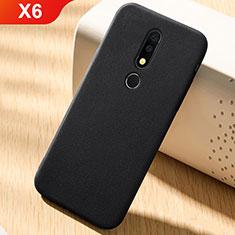 Silikon Hülle Handyhülle Ultra Dünn Schutzhülle Tasche Vorder und Rückseite 360 Grad für Nokia X6 Schwarz