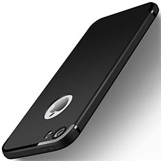 Silikon Hülle Handyhülle Ultra Dünn Schutzhülle U01 für Apple iPhone 5S Schwarz