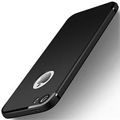 Silikon Hülle Handyhülle Ultra Dünn Schutzhülle U01 für Apple iPhone SE Schwarz