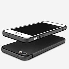 Silikon Hülle Handyhülle Ultra Dünn Schutzhülle U04 für Apple iPhone 5S Schwarz