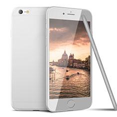 Silikon Hülle Handyhülle Ultra Dünn Schutzhülle U15 für Apple iPhone 6 Weiß