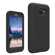 Silikon Hülle Handyhülle Ultra Dünn Schutzhülle Vorder und Rückseite 360 Grad für Samsung Galaxy S7 Active G891A Schwarz