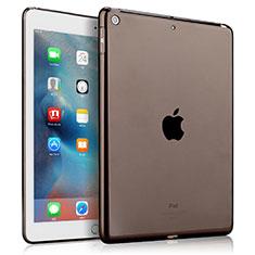 Silikon Hülle Handyhülle Ultradünn Tasche Durchsichtig Transparent für Apple New iPad 9.7 (2017) Grau