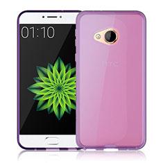 Silikon Hülle Handyhülle Ultradünn Tasche Durchsichtig Transparent für HTC U Play Rosa