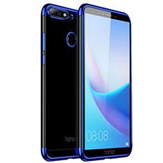 Silikon Hülle Handyhülle Ultradünn Tasche Durchsichtig Transparent für Huawei Honor 7A Blau