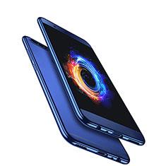 Silikon Hülle Handyhülle Ultradünn Tasche Durchsichtig Transparent für Huawei Honor 8 Pro Blau