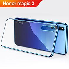 Silikon Hülle Handyhülle Ultradünn Tasche Durchsichtig Transparent für Huawei Honor Magic 2 Blau
