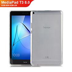 Silikon Hülle Handyhülle Ultradünn Tasche Durchsichtig Transparent für Huawei MediaPad T3 8.0 KOB-W09 KOB-L09 Klar