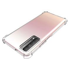 Silikon Hülle Handyhülle Ultradünn Tasche Durchsichtig Transparent für Huawei P Smart (2021) Klar