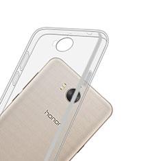 Silikon Hülle Handyhülle Ultradünn Tasche Durchsichtig Transparent für Huawei Y6 (2017) Klar