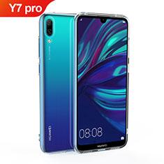 Silikon Hülle Handyhülle Ultradünn Tasche Durchsichtig Transparent für Huawei Y7 (2019) Klar