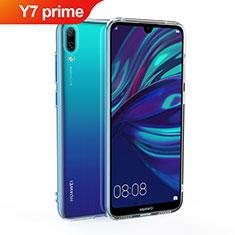 Silikon Hülle Handyhülle Ultradünn Tasche Durchsichtig Transparent für Huawei Y7 Prime (2019) Klar