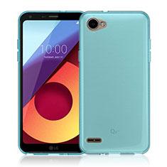 Silikon Hülle Handyhülle Ultradünn Tasche Durchsichtig Transparent für LG Q6 Blau