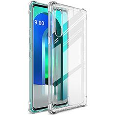 Silikon Hülle Handyhülle Ultradünn Tasche Durchsichtig Transparent für LG Velvet 4G Klar