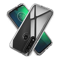 Silikon Hülle Handyhülle Ultradünn Tasche Durchsichtig Transparent für Motorola Moto G8 Plus Klar