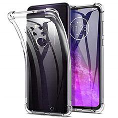 Silikon Hülle Handyhülle Ultradünn Tasche Durchsichtig Transparent für Motorola Moto One Zoom Klar