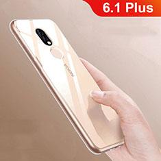 Silikon Hülle Handyhülle Ultradünn Tasche Durchsichtig Transparent für Nokia 6.1 Plus Klar