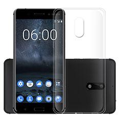 Silikon Hülle Handyhülle Ultradünn Tasche Durchsichtig Transparent für Nokia 6 Klar
