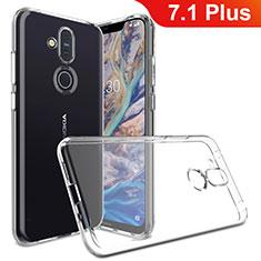 Silikon Hülle Handyhülle Ultradünn Tasche Durchsichtig Transparent für Nokia 7.1 Plus Klar