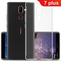 Silikon Hülle Handyhülle Ultradünn Tasche Durchsichtig Transparent für Nokia 7 Plus Klar