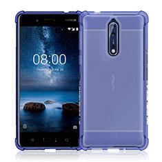 Silikon Hülle Handyhülle Ultradünn Tasche Durchsichtig Transparent für Nokia 8 Klar