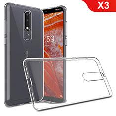 Silikon Hülle Handyhülle Ultradünn Tasche Durchsichtig Transparent für Nokia X3 Klar