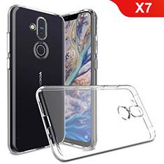 Silikon Hülle Handyhülle Ultradünn Tasche Durchsichtig Transparent für Nokia X7 Klar