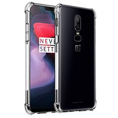 Silikon Hülle Handyhülle Ultradünn Tasche Durchsichtig Transparent für OnePlus 6 Klar