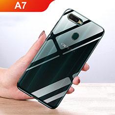 Silikon Hülle Handyhülle Ultradünn Tasche Durchsichtig Transparent für Oppo A7 Klar