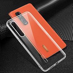 Silikon Hülle Handyhülle Ultradünn Tasche Durchsichtig Transparent für Oppo Find X2 Pro Klar