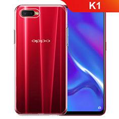 Silikon Hülle Handyhülle Ultradünn Tasche Durchsichtig Transparent für Oppo K1 Klar