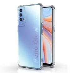 Silikon Hülle Handyhülle Ultradünn Tasche Durchsichtig Transparent für Oppo Reno4 5G Klar