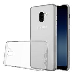 Silikon Hülle Handyhülle Ultradünn Tasche Durchsichtig Transparent für Samsung Galaxy A8 (2018) Duos A530F Klar