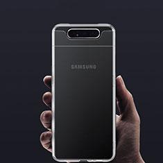 Silikon Hülle Handyhülle Ultradünn Tasche Durchsichtig Transparent für Samsung Galaxy A80 Klar