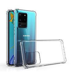Silikon Hülle Handyhülle Ultradünn Tasche Durchsichtig Transparent für Samsung Galaxy S20 Ultra 5G Klar