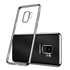 Silikon Hülle Handyhülle Ultradünn Tasche Durchsichtig Transparent für Samsung Galaxy S9 Silber