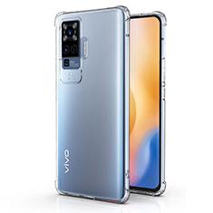 Silikon Hülle Handyhülle Ultradünn Tasche Durchsichtig Transparent für Vivo X50 Pro 5G Klar