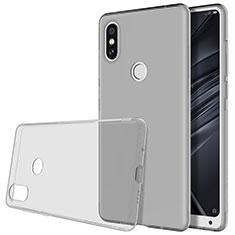 Silikon Hülle Handyhülle Ultradünn Tasche Durchsichtig Transparent für Xiaomi Mi Mix 2S Grau