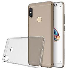 Silikon Hülle Handyhülle Ultradünn Tasche Durchsichtig Transparent für Xiaomi Redmi Note 5 AI Dual Camera Grau