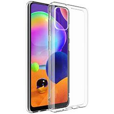 Silikon Hülle Handyhülle Ultradünn Tasche Durchsichtig Transparent G01 für Samsung Galaxy A31 Klar