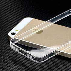 Silikon Hülle Handyhülle Ultradünn Tasche Durchsichtig Transparent HT01 für Apple iPhone 5S Klar