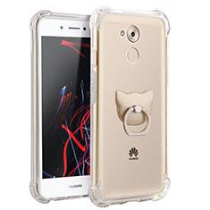 Silikon Hülle Handyhülle Ultradünn Tasche Durchsichtig Transparent mit Fingerring Ständer für Huawei Enjoy 6S Klar
