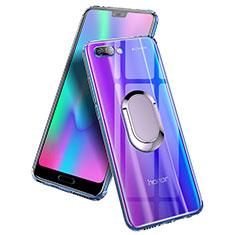 Silikon Hülle Handyhülle Ultradünn Tasche Durchsichtig Transparent mit Fingerring Ständer für Huawei Honor 10 Klar