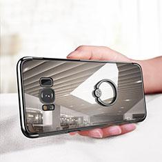 Silikon Hülle Handyhülle Ultradünn Tasche Durchsichtig Transparent mit Fingerring Ständer für Samsung Galaxy S8 Klar