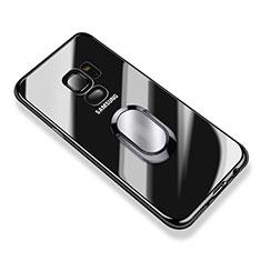 Silikon Hülle Handyhülle Ultradünn Tasche Durchsichtig Transparent mit Fingerring Ständer für Samsung Galaxy S9 Klar