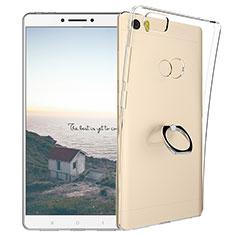 Silikon Hülle Handyhülle Ultradünn Tasche Durchsichtig Transparent mit Fingerring Ständer für Xiaomi Mi Max Klar